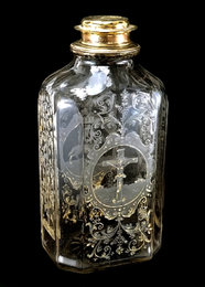 Flask with guilt top from 1693, Transylvania